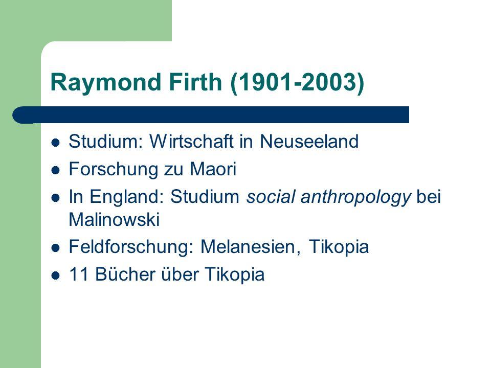 Oxford-Schule Radcliffe-Brown 1937 – 1946 Lehrstuhl Social Anthropology E.E.