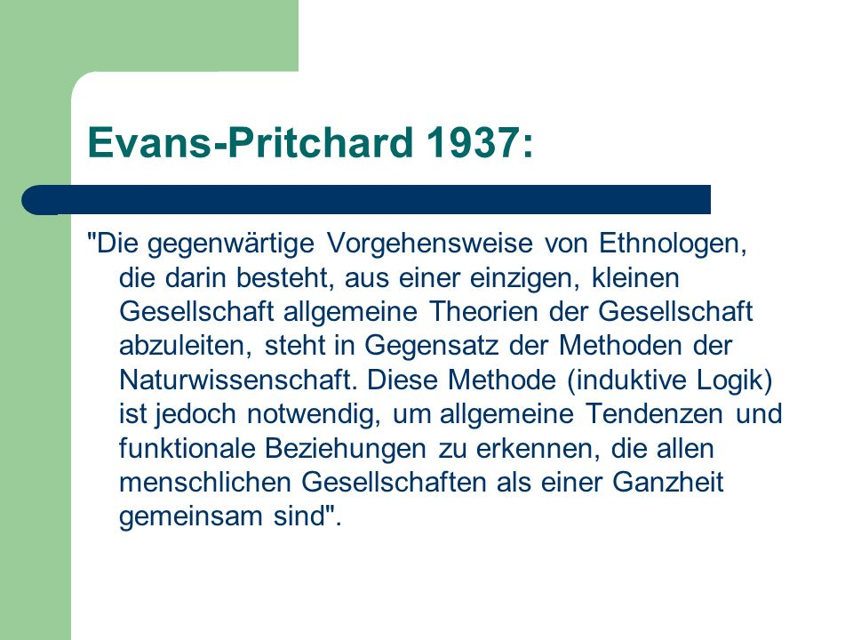 Evans-Pritchard 1937: