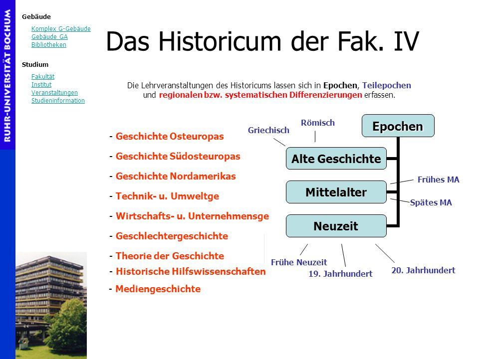 Gebäude Komplex G-Gebäude Gebäude GA Bibliotheken Studium Fakultät Institut Veranstaltungen Studieninformation Das Historicum der Fak. IV Die Lehrvera