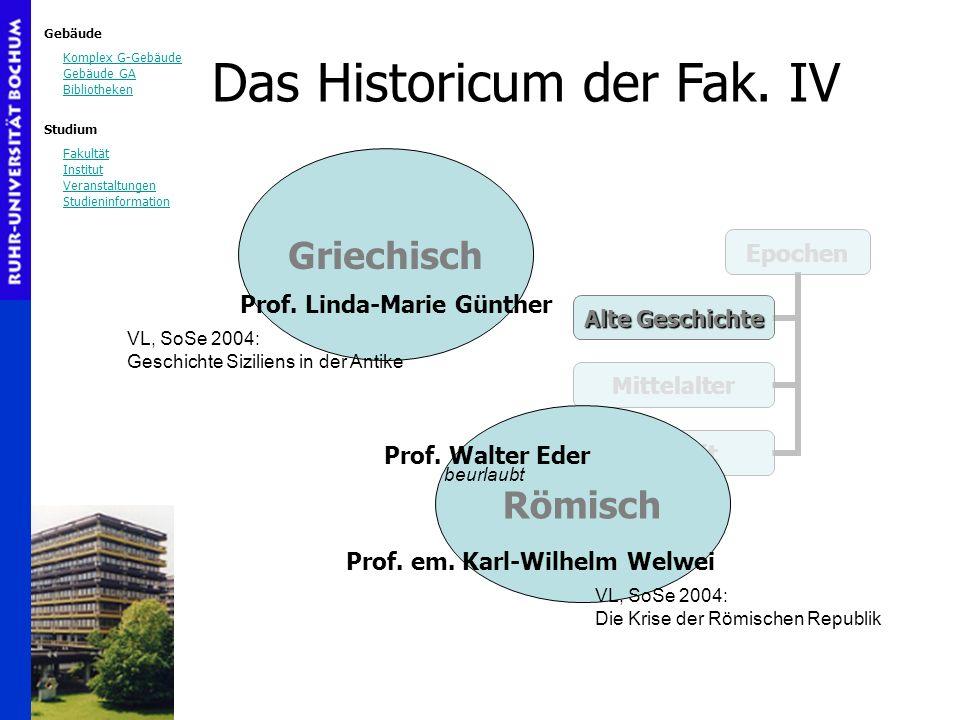 Gebäude Komplex G-Gebäude Gebäude GA Bibliotheken Studium Fakultät Institut Veranstaltungen Studieninformation Das Historicum der Fak.