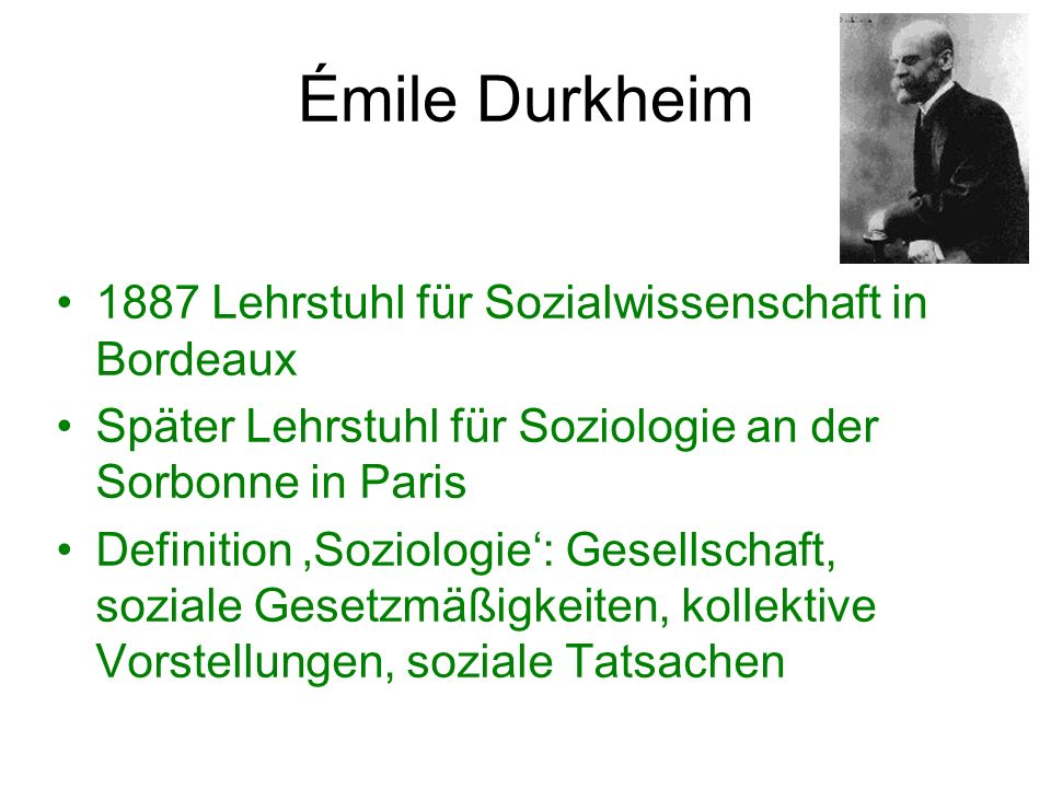 Ausgewählte Schriften von Émile Durkheim (1893).De la Division du Travail Social.