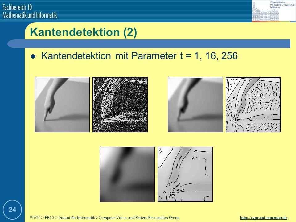 WWU > FB10 > Institut für Informatik > Computer Vision and Pattern Recognition Group http://cvpr.uni-muenster.de 23 Kantendetektion (1) Kante: 1.