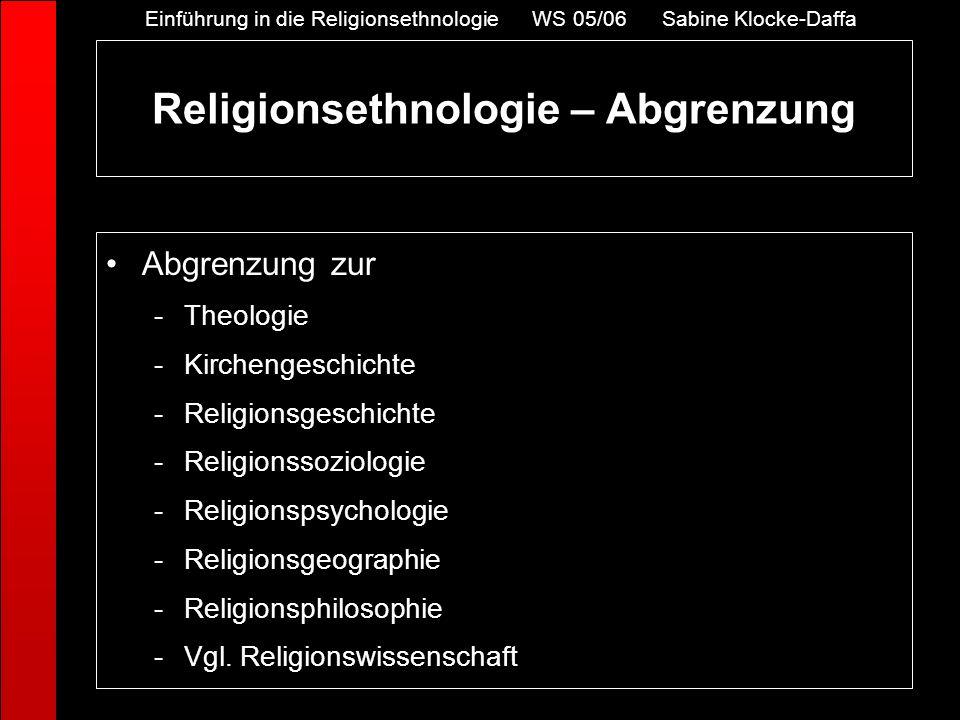 Abgrenzung zur -Theologie -Kirchengeschichte -Religionsgeschichte -Religionssoziologie -Religionspsychologie -Religionsgeographie -Religionsphilosophi