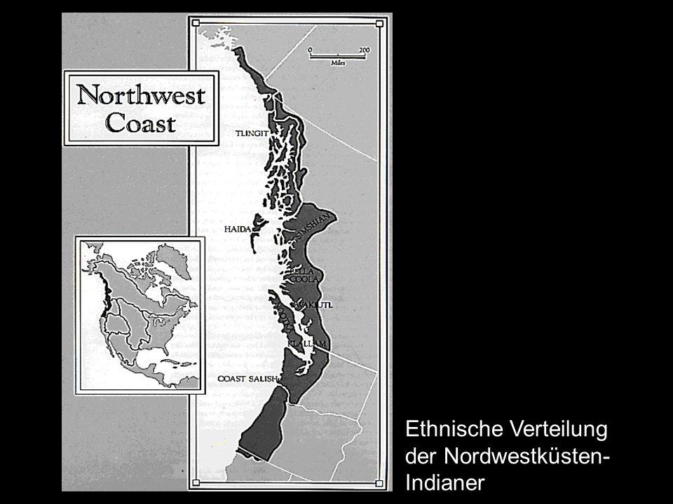Nordamerika- Nordwestküste_119 Ethnische Verteilung der Nordwestküsten- Indianer