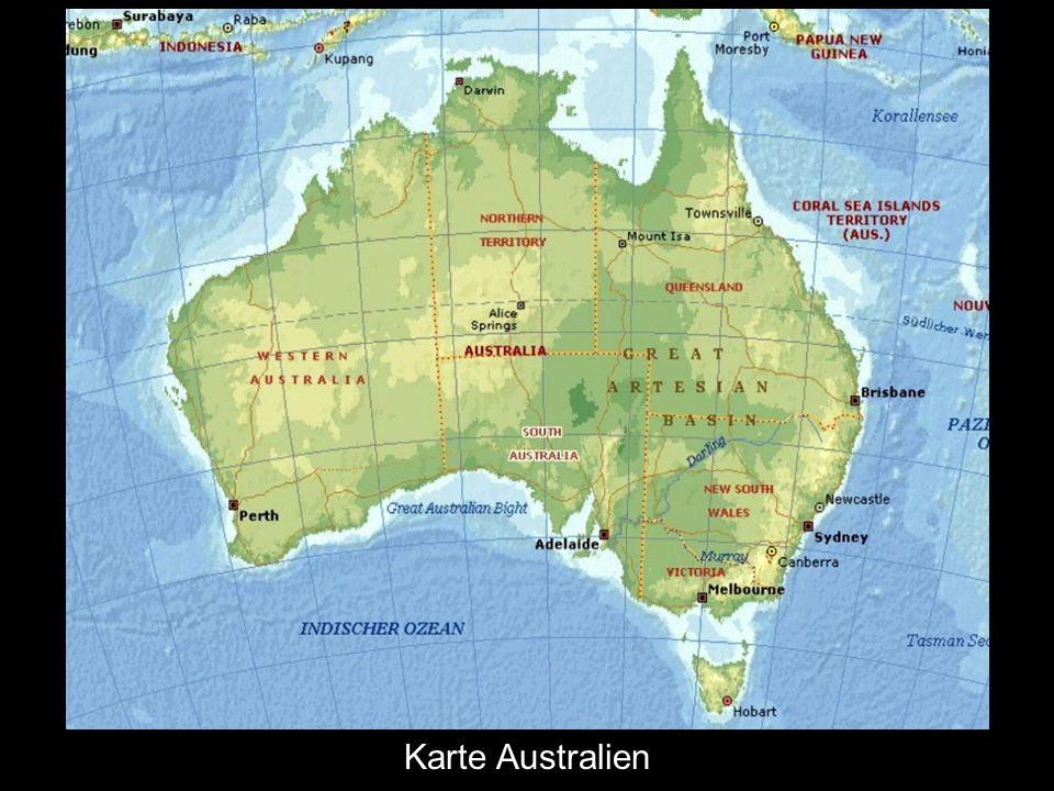 Australia Karte Australien