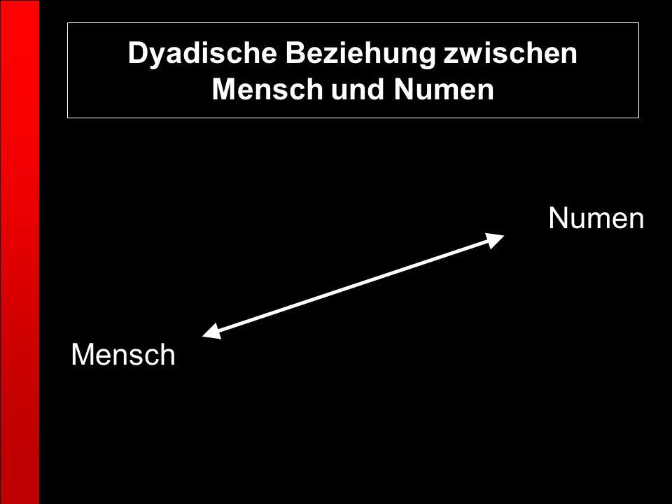 Dyadische Beziehung zwischen Mensch und Numen Numen Mensch