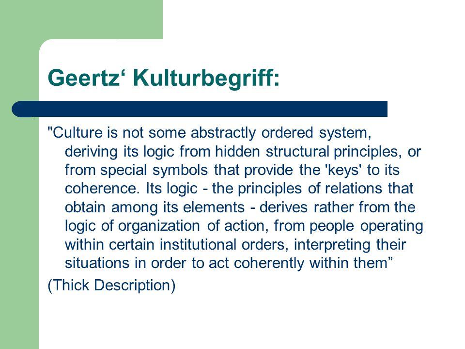 Geertz Kulturbegriff:
