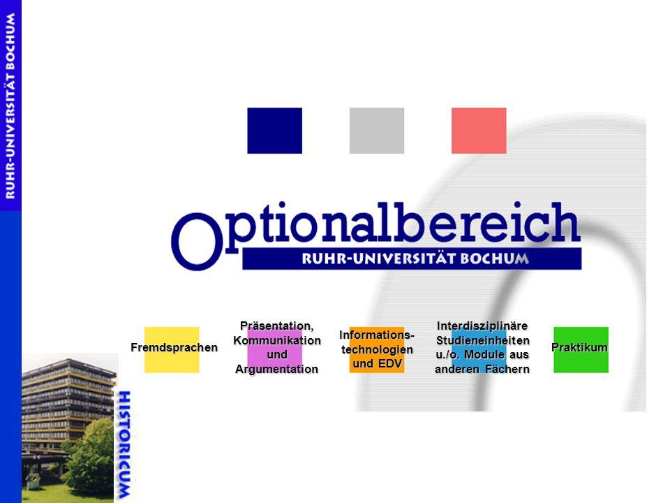 Fremdsprachen Präsentation, Kommunikation und Argumentation Informations- technologien und EDV Interdisziplinäre Studieneinheiten u./o. Module aus and