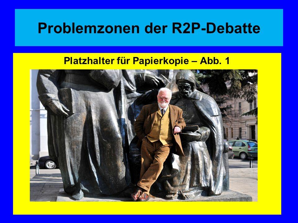 Problemzonen der R2P-Debatte Platzhalter für Papierkopie – Abb. 1