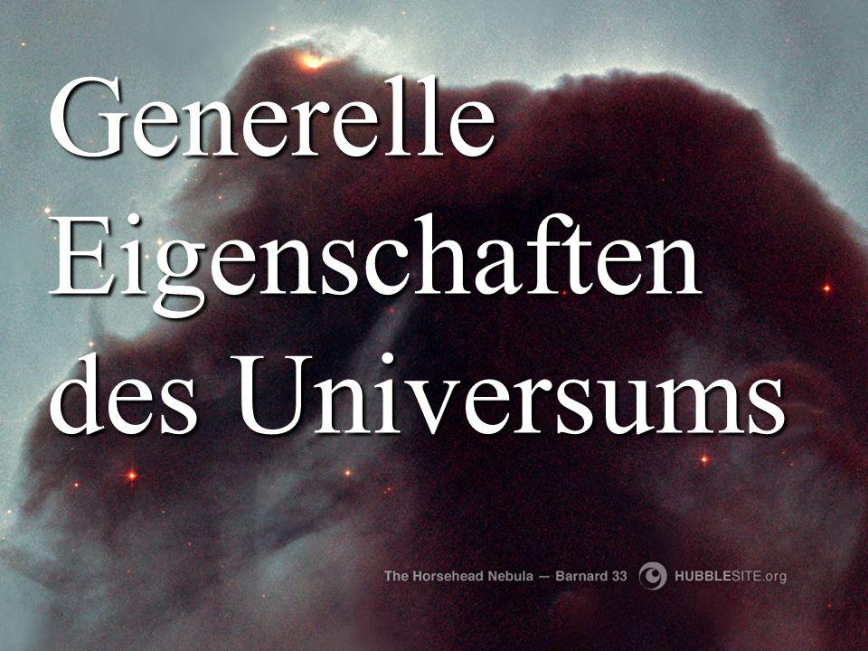 Titelbild Generelle Eigenschaften des Universums