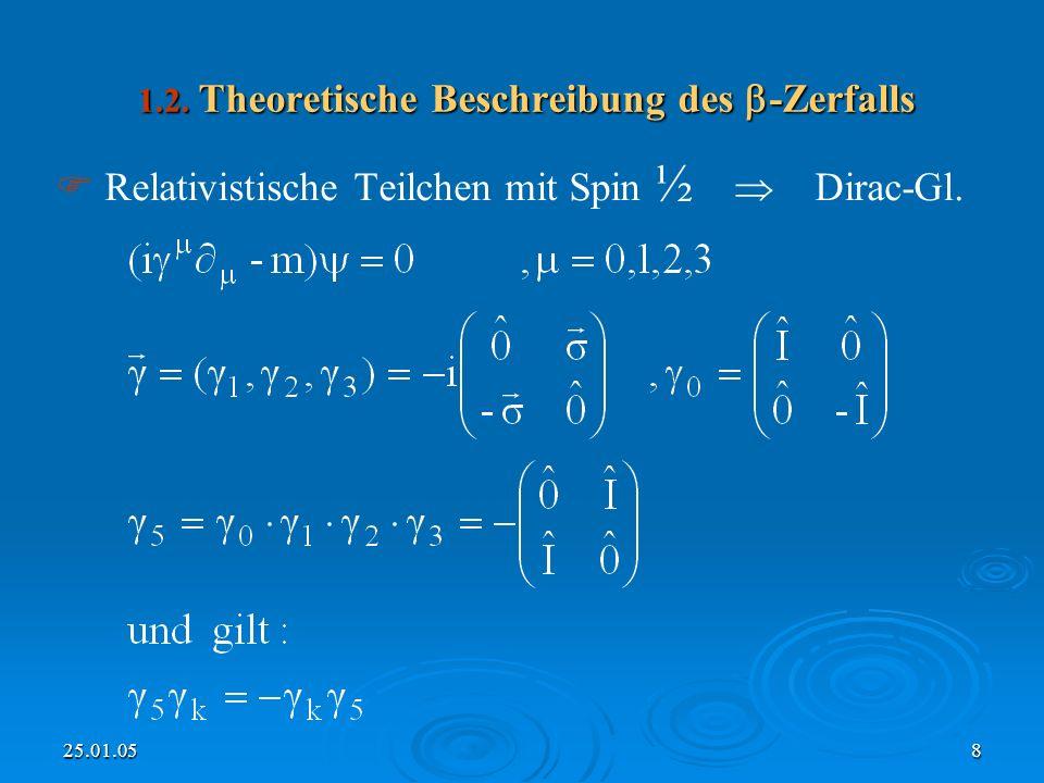 25.01.058 1.2.Theoretische Beschreibung des -Zerfalls 1.2.