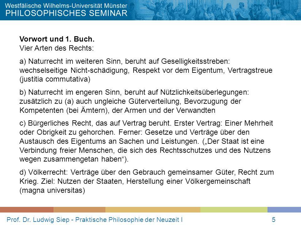 Prof.Dr. Ludwig Siep - Praktische Philosophie der Neuzeit I5 Vorwort und 1.