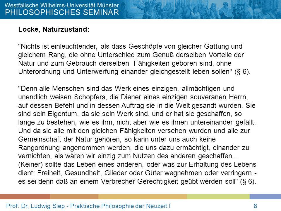 Prof. Dr. Ludwig Siep - Praktische Philosophie der Neuzeit I8 Locke, Naturzustand: