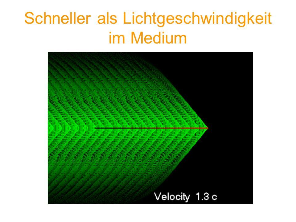 Schneller als Lichtgeschwindigkeit im Medium