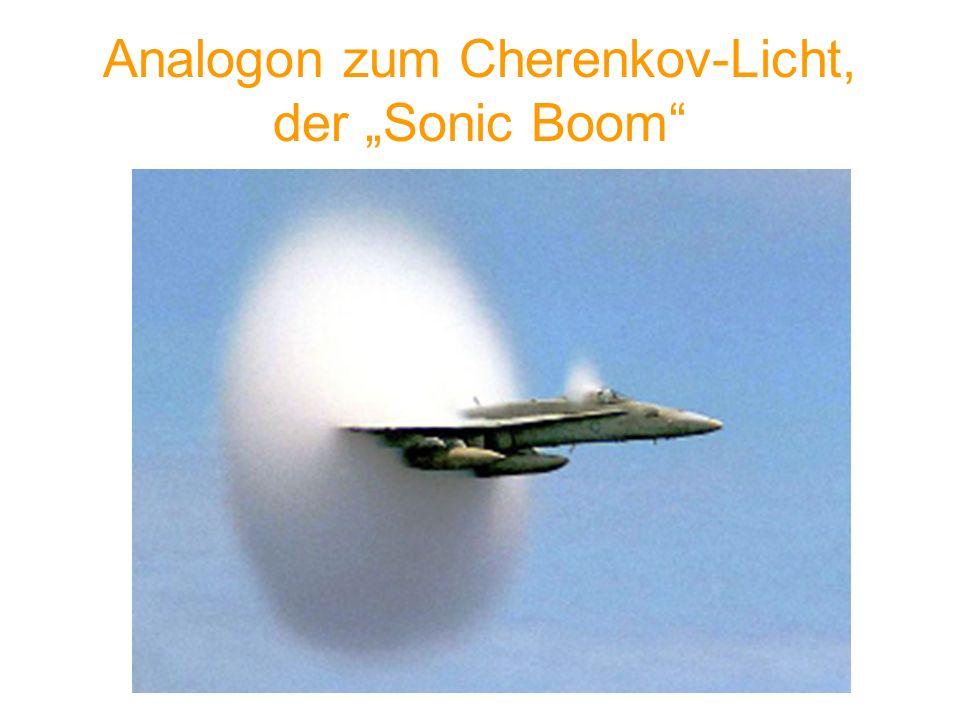 Analogon zum Cherenkov-Licht, der Sonic Boom