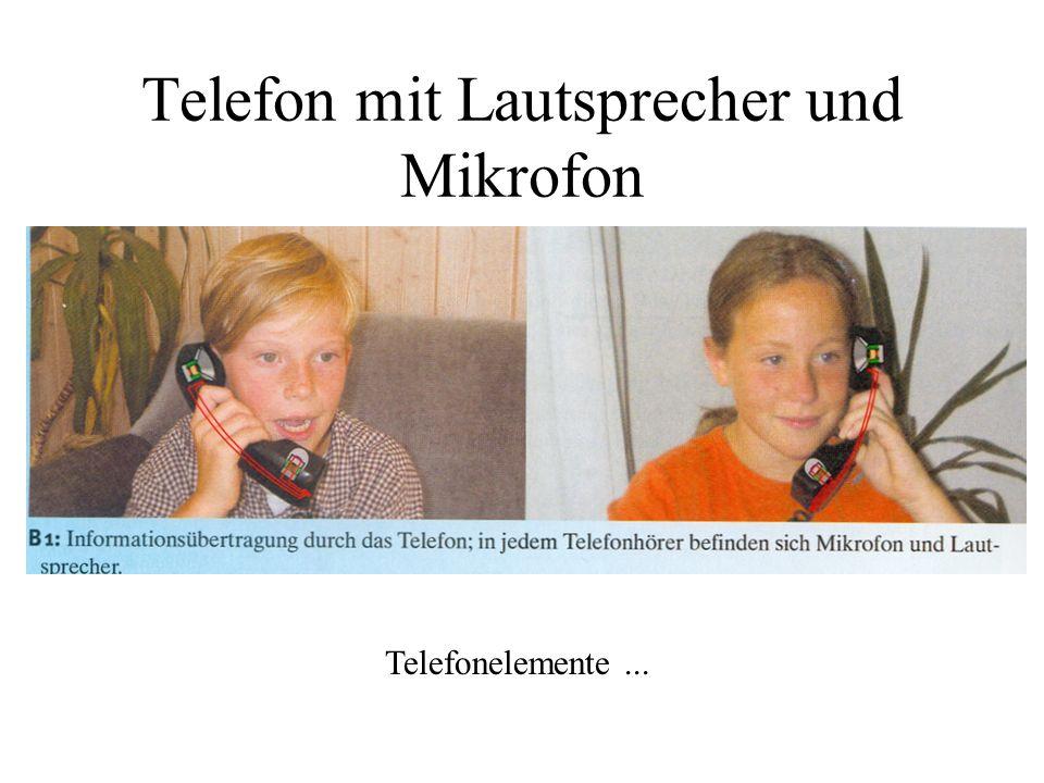 Telefon mit Lautsprecher und Mikrofon Telefonelemente...