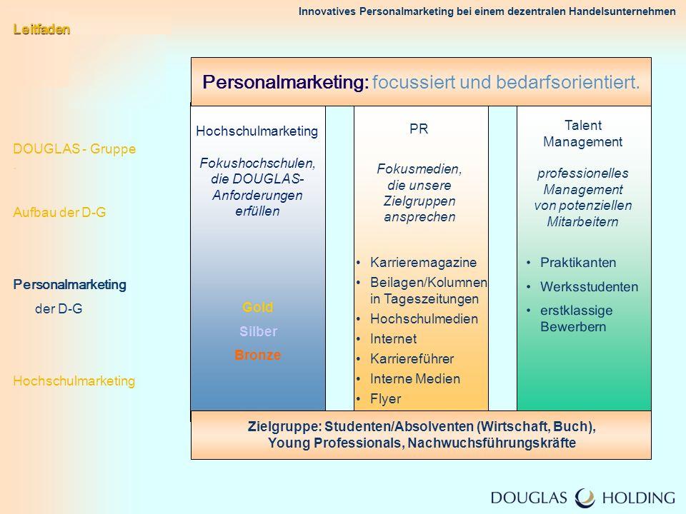 Innovatives Personalmarketing bei einem dezentralen Handelsunternehmen PR Fokusmedien, die unsere Zielgruppen ansprechen Karrieremagazine Beilagen/Kol