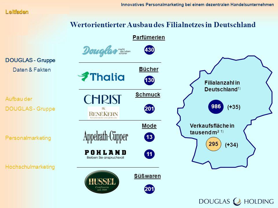 Innovatives Personalmarketing bei einem dezentralen Handelsunternehmen Wertorientierter Ausbau des Filialnetzes in Deutschland 430 130 201 13 201 Parf