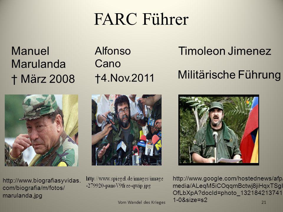 FARC Führer http://www.google.com/hostednews/afp/ media/ALeqM5iCOqqmBctwj8jiHqxTSgI OfLbXpA?docId=photo_1321842137416- 1-0&size=s2 Manuel Marulanda Mä