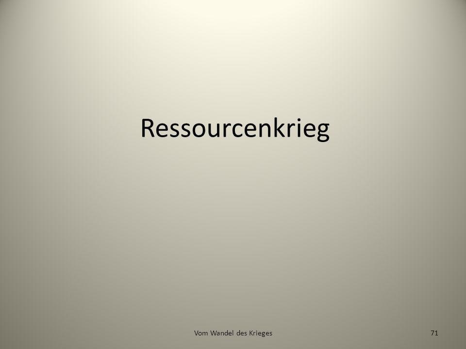 Ressourcenkrieg 71Vom Wandel des Krieges