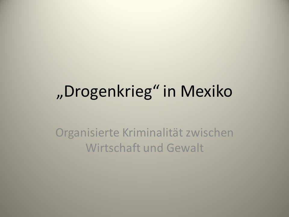 Drogenkrieg in Mexiko Organisierte Kriminalität zwischen Wirtschaft und Gewalt