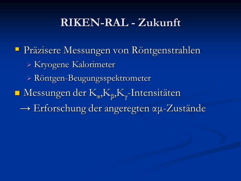 RIKEN-RAL - Zukunft Präzisere Messungen von Röntgenstrahlen Präzisere Messungen von Röntgenstrahlen Kryogene Kalorimeter Kryogene Kalorimeter Röntgen-