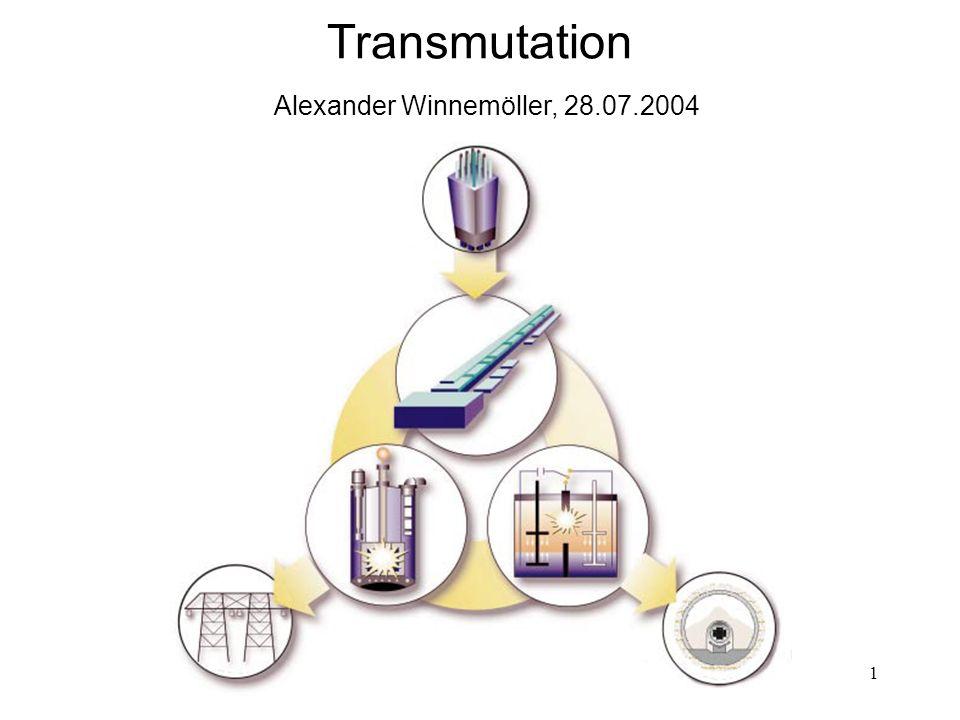 1 Transmutation Alexander Winnemöller, 28.07.2004