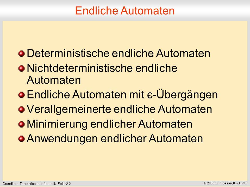 Grundkurs Theoretische Informatik, Folie 2.2 © 2006 G.