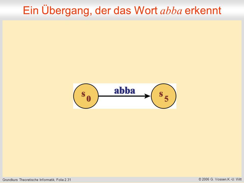 Grundkurs Theoretische Informatik, Folie 2.31 © 2006 G.