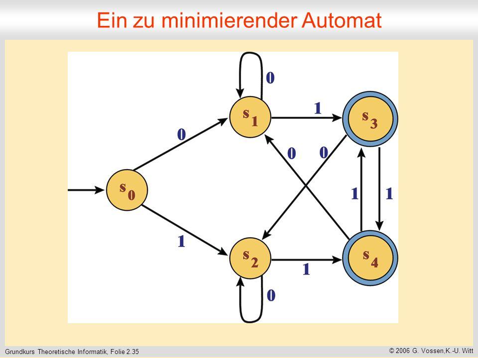 Grundkurs Theoretische Informatik, Folie 2.35 © 2006 G.