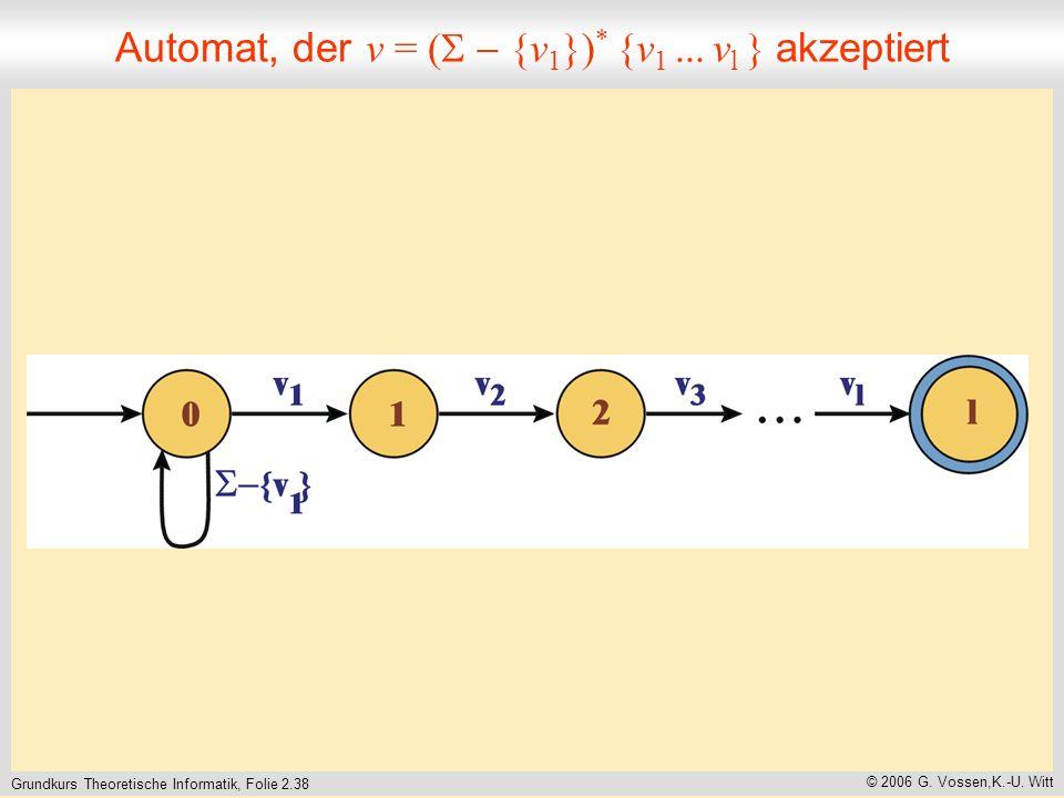 Grundkurs Theoretische Informatik, Folie 2.38 © 2006 G.