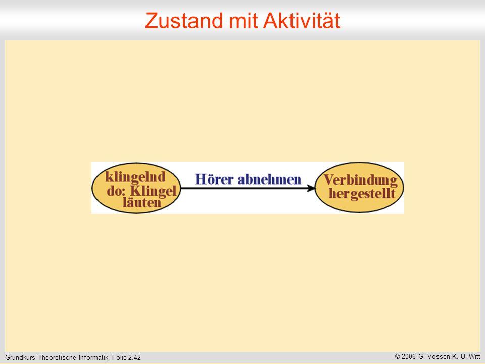 Grundkurs Theoretische Informatik, Folie 2.42 © 2006 G. Vossen,K.-U. Witt Zustand mit Aktivität