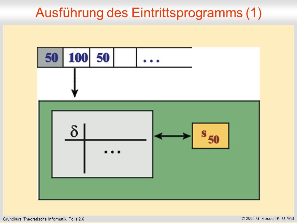 Grundkurs Theoretische Informatik, Folie 2.6 © 2006 G.