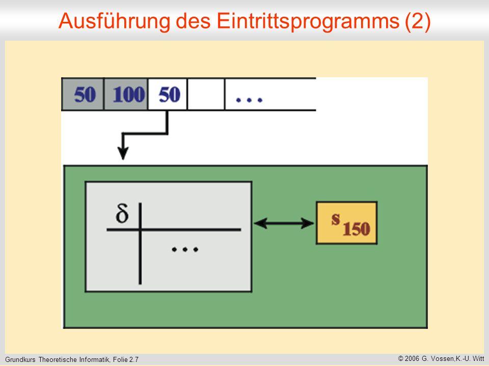 Grundkurs Theoretische Informatik, Folie 2.7 © 2006 G.