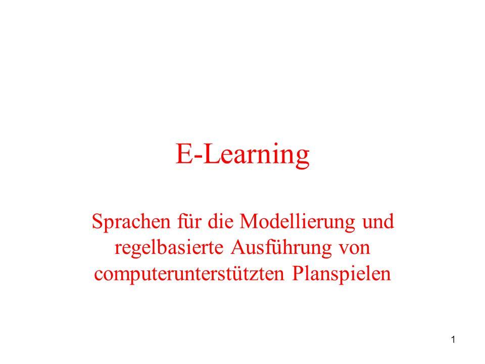 22 Agenda 1.Motivation 2.Theoretische Grundlagen 3.Planspiele als regelbasierte Systeme 4.Planspiele als verhaltensbasierte Systeme 4.1 Eigenschaften von verhaltensbasierten Systemen 4.2 Möglichkeiten der Modellierung von Planspielen als verhaltensbasierte Systeme 5.Vor- und Nachteile der Modellierung von Planspielen als regel- bzw.