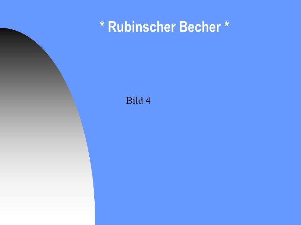 * Rubinscher Becher * Bild 4