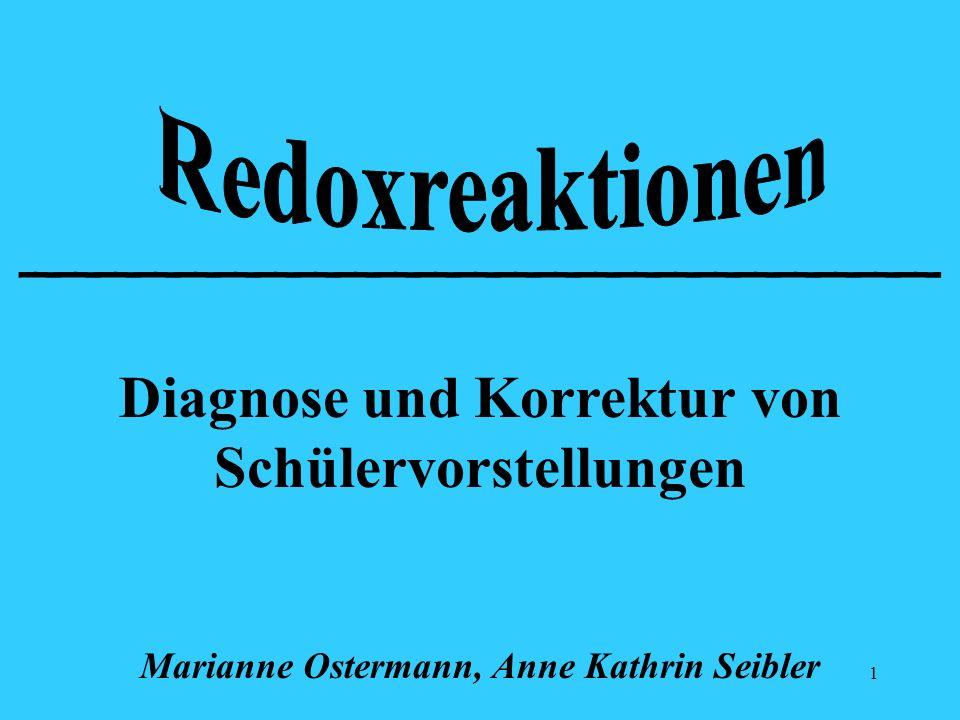 1 _______________________ Diagnose und Korrektur von Schülervorstellungen Marianne Ostermann, Anne Kathrin Seibler