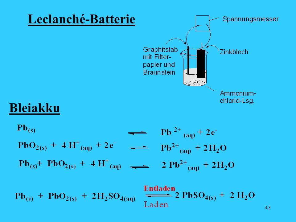 43 Leclanché-Batterie Bleiakku