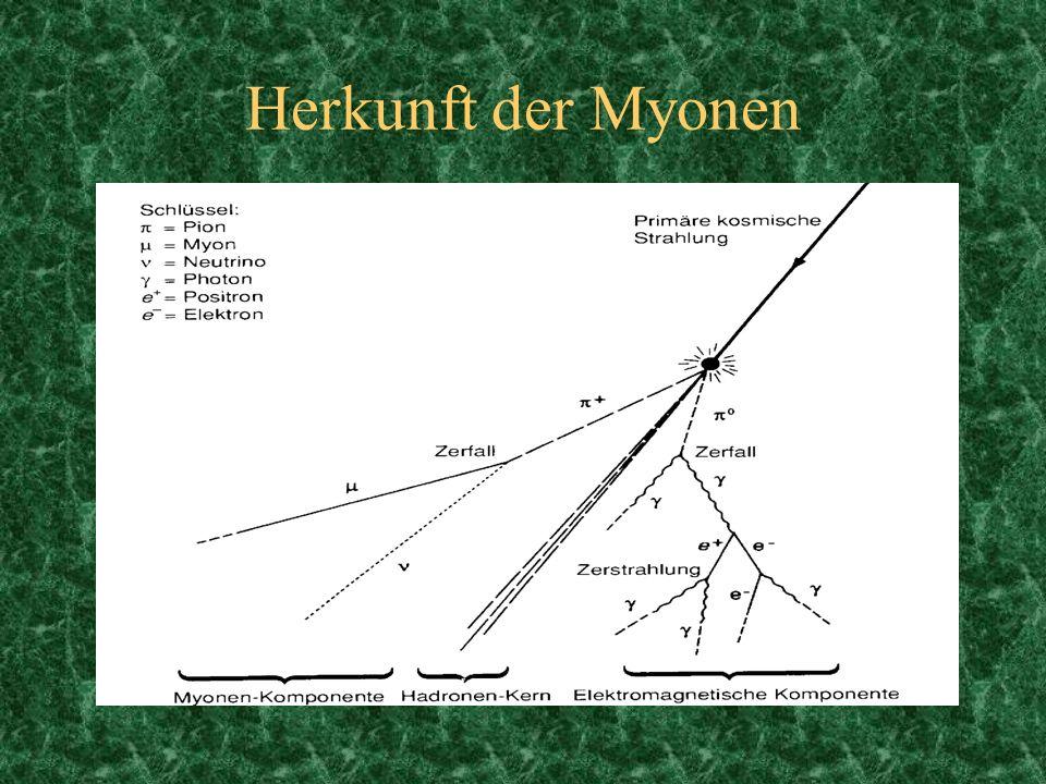 Herkunft der Myonen