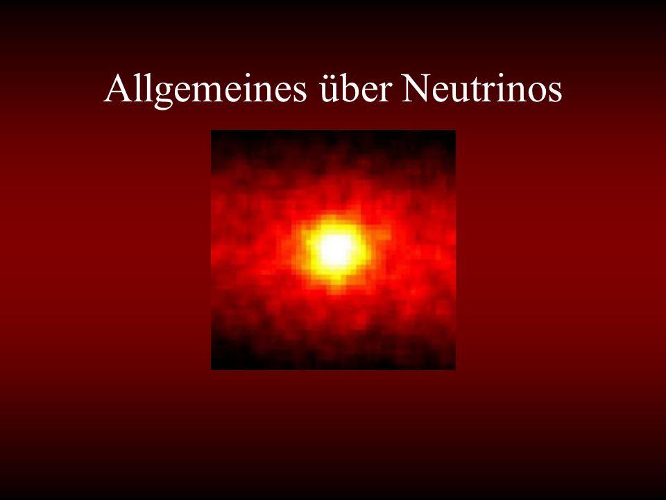 Allgemeines über Neutrinos