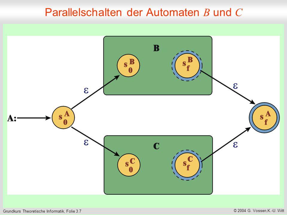 Grundkurs Theoretische Informatik, Folie 3.8 © 2004 G.