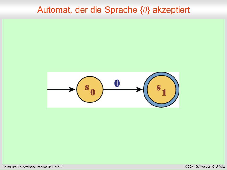 Grundkurs Theoretische Informatik, Folie 3.9 © 2004 G.
