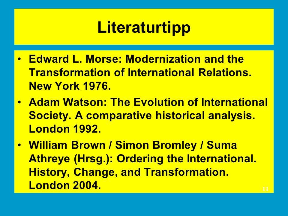 Literaturtipp Edward L.Morse: Modernization and the Transformation of International Relations.