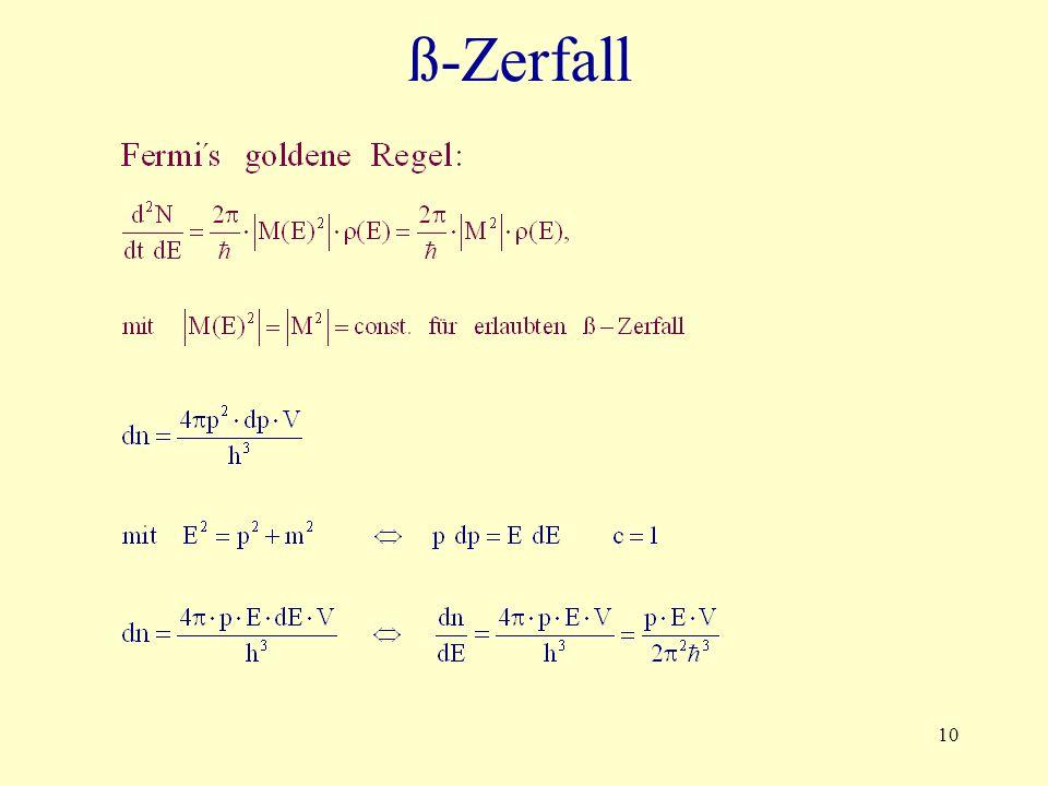 10 ß-Zerfall
