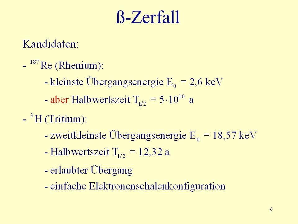 9 ß-Zerfall