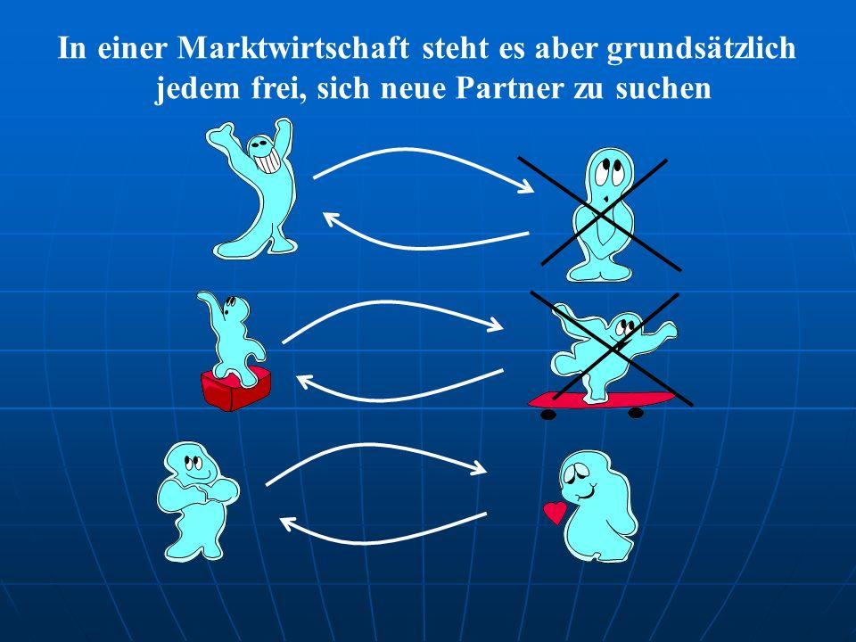 In einer Marktwirtschaft steht es aber grundsätzlich jedem frei, sich neue Partner zu suchen