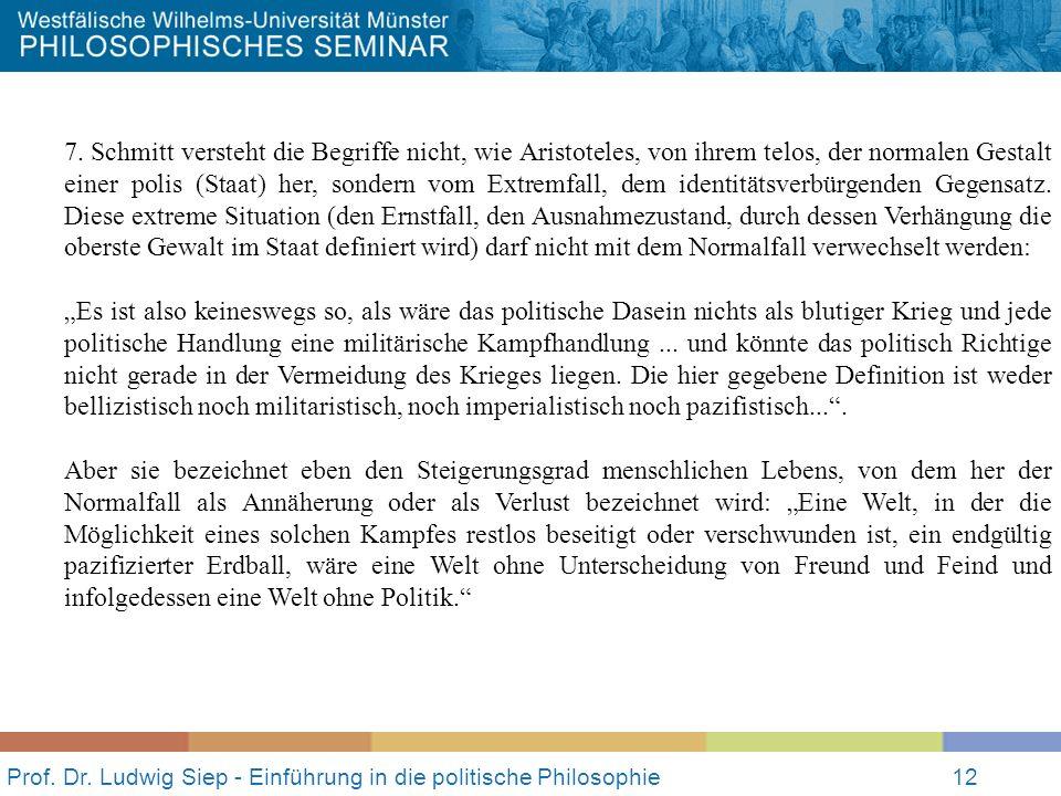 Prof.Dr. Ludwig Siep - Einführung in die politische Philosophie12 7.
