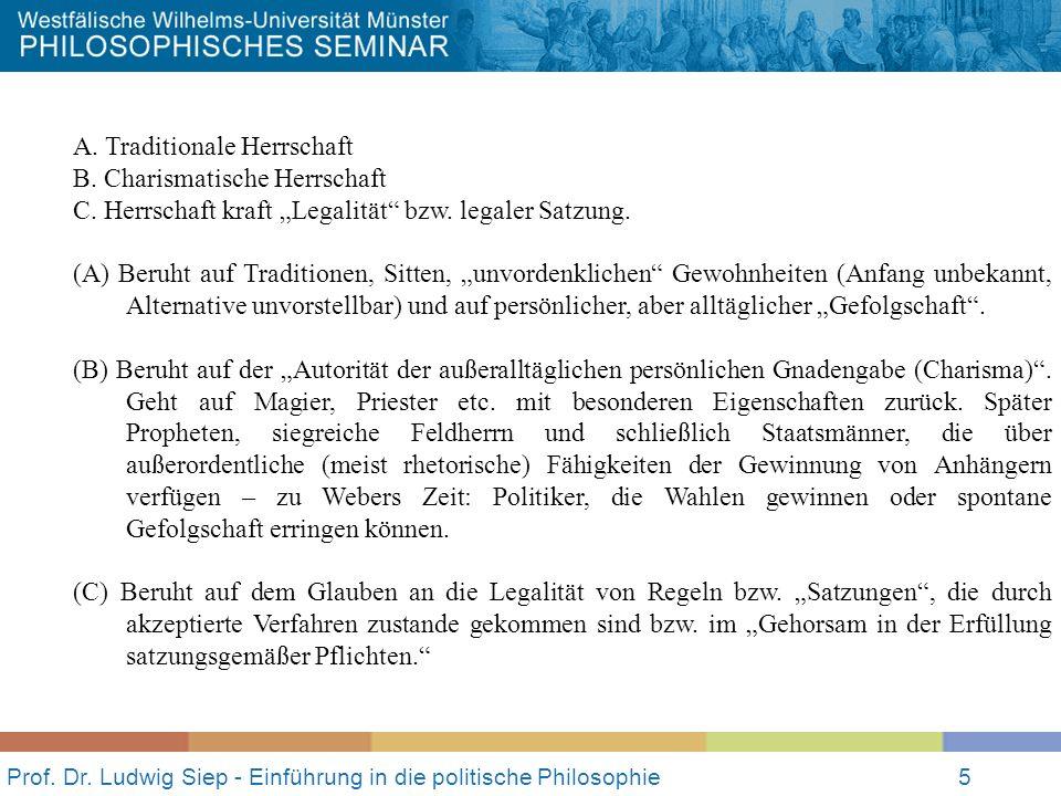 Prof.Dr. Ludwig Siep - Einführung in die politische Philosophie5 A.