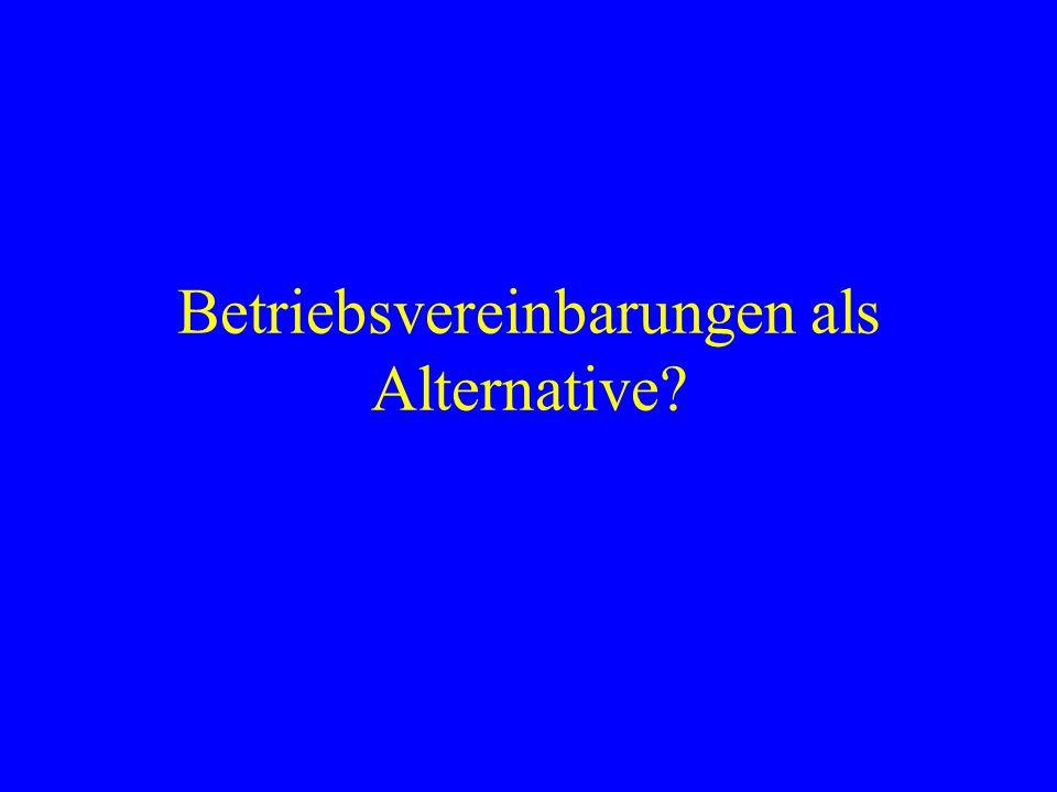 Betriebsvereinbarungen als Alternative?
