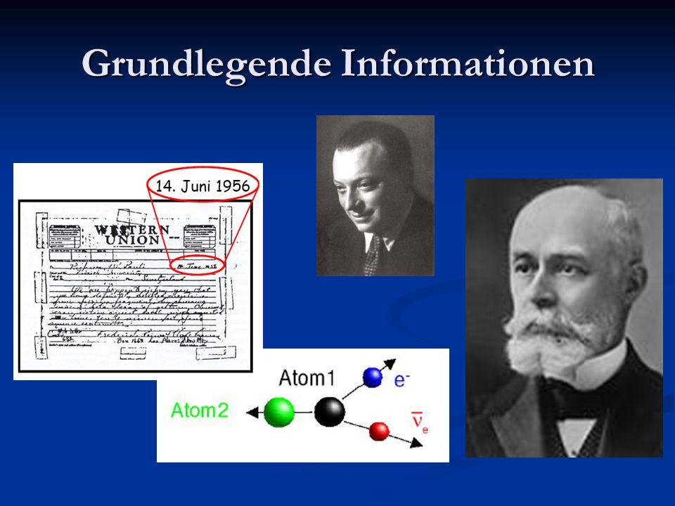 Grundlegende Informationen Nachweis durch Reines und Cowan Bei Signal: Bei Signal: 1.) 1.